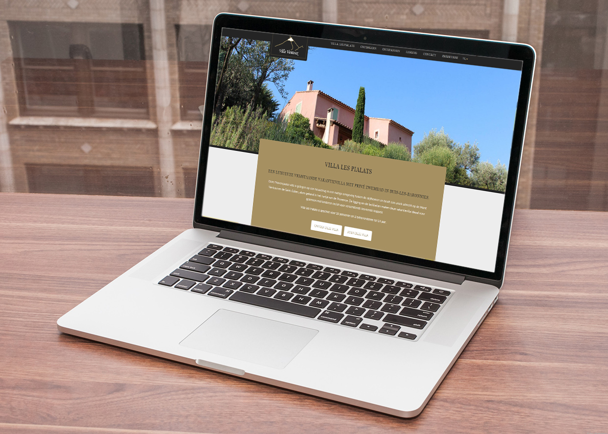 Villa Ventoux - Oplevering website