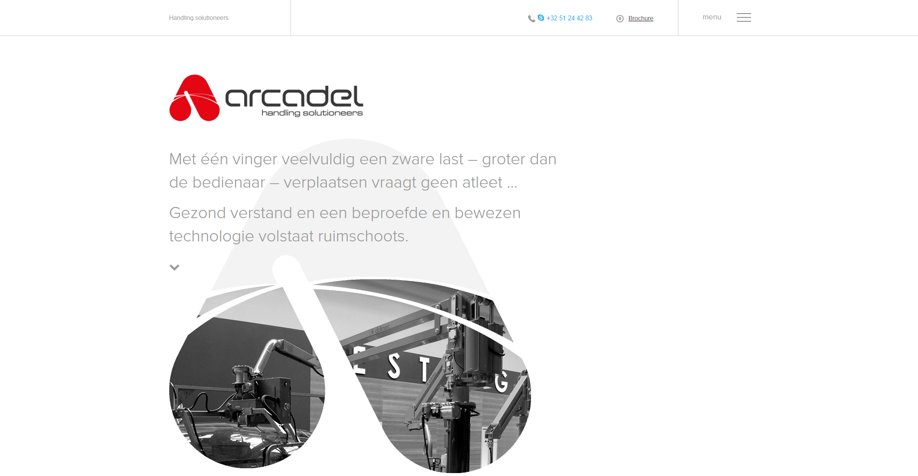 Arcadel website screenshot