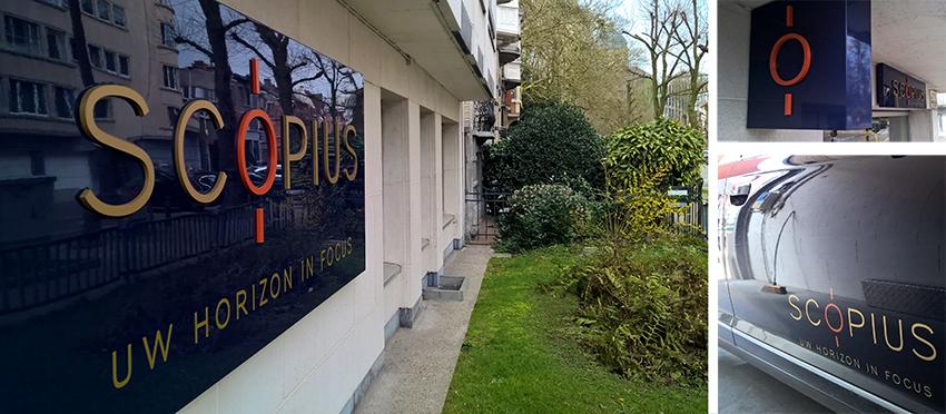 Scopius belettering site