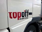 TopOff belettering