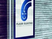 Nieuw logo + baseline Flash Elektro Aalter